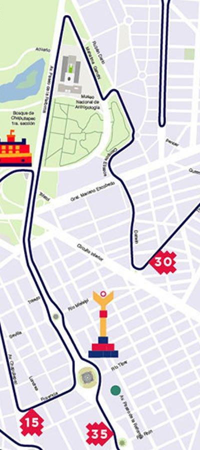 6 ruta maratón de la ciudad de México hasta kilómetro 5