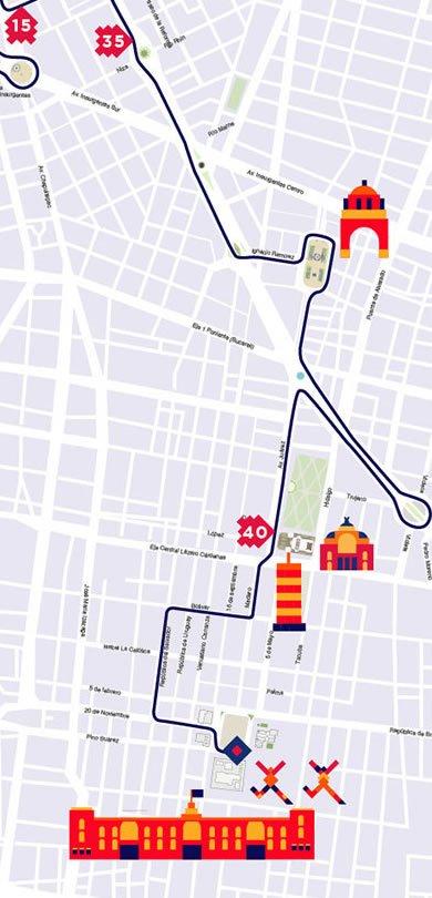 7 ruta maratón de la ciudad de México hasta kilómetro 5