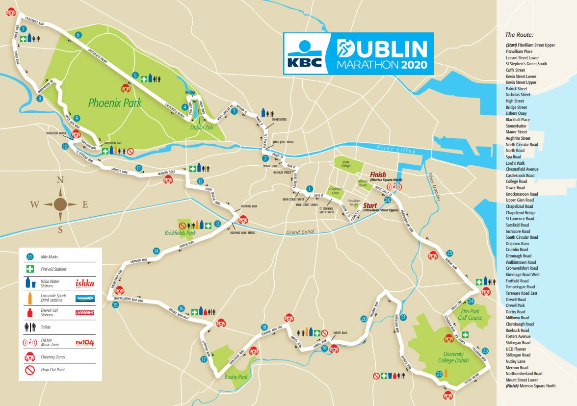 ruta maraton dublin