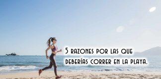 5 razones por las que deberías correr en la playa