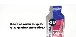 Cómo consumir los geles y las gomitas energéticas