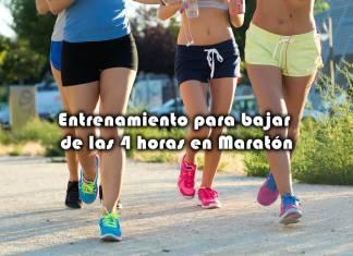 Entrenamiento para bajar de las 4 horas en Maratón