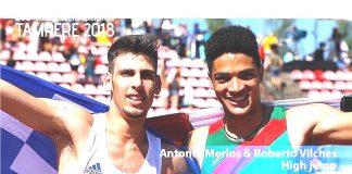 Roberto Vilches en el Mundial de Atletismo Sub-20