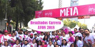 Resultados Carrera AVON 2018