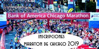 inscripciones maraton de chicago 2019