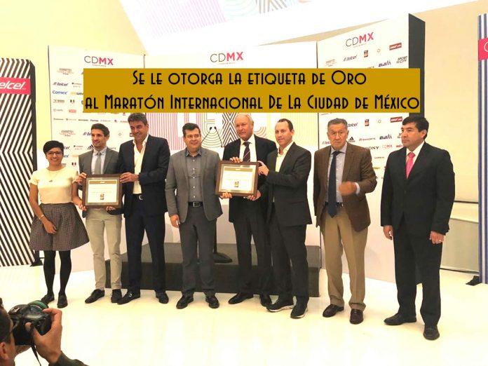etiqueta de Oro al Maratón Internacional De La Ciudad de México