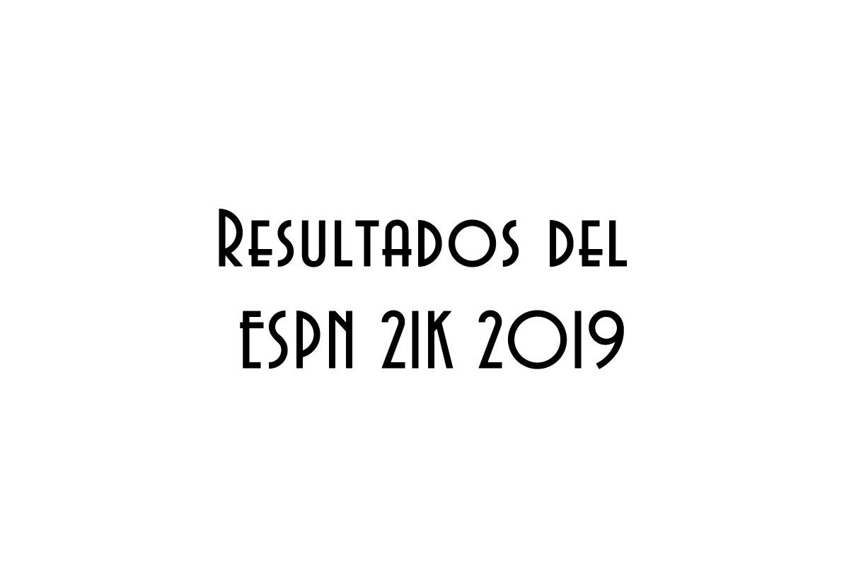Resultados del ESPN 21K 2019