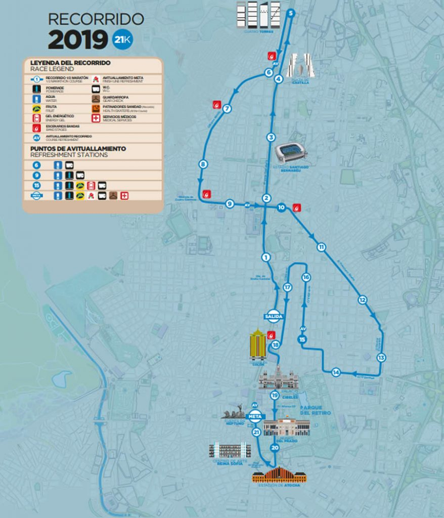 ruta 21k ROCK 'N' ROLL MADRID