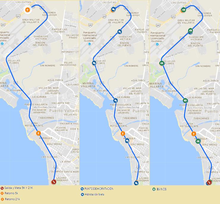 ruta medio maraton puerto vallart
