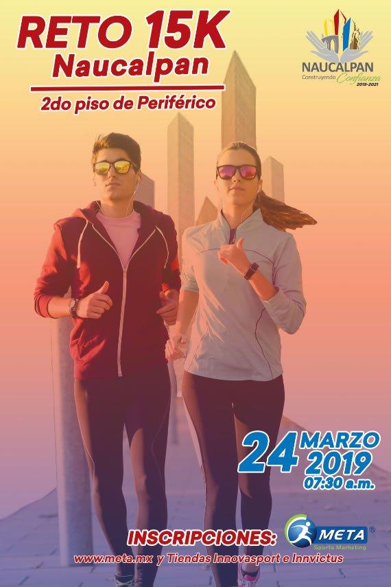 Carrera RETO 15K NAUCALPAN 2019