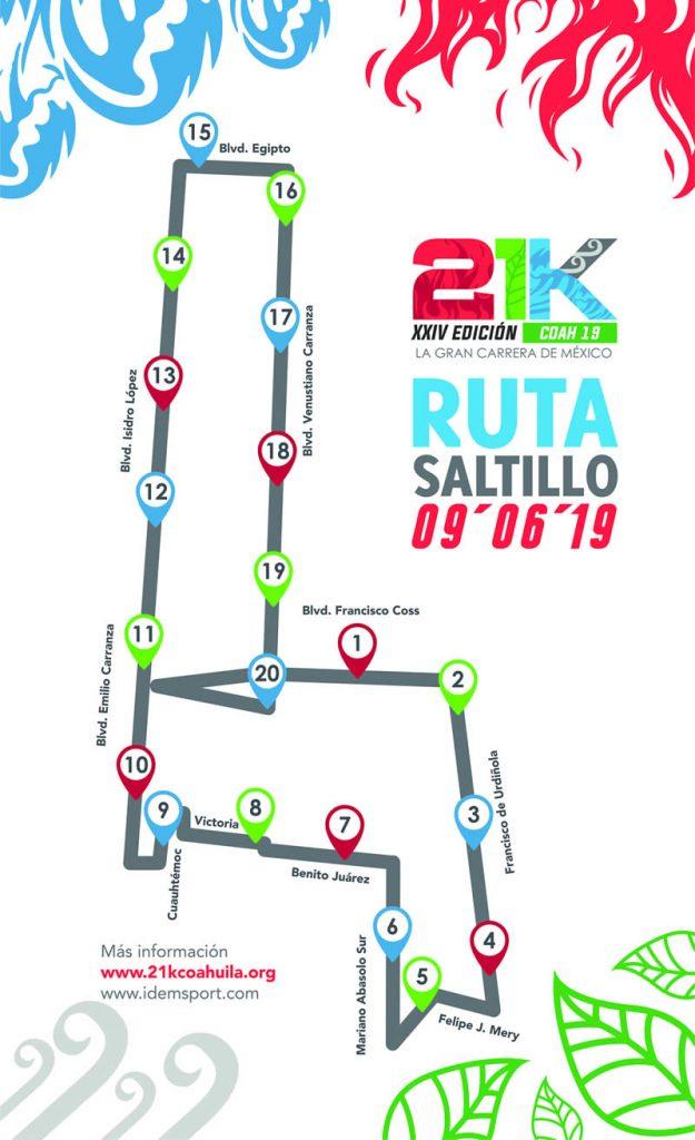 ruta 21k coahuila 2019