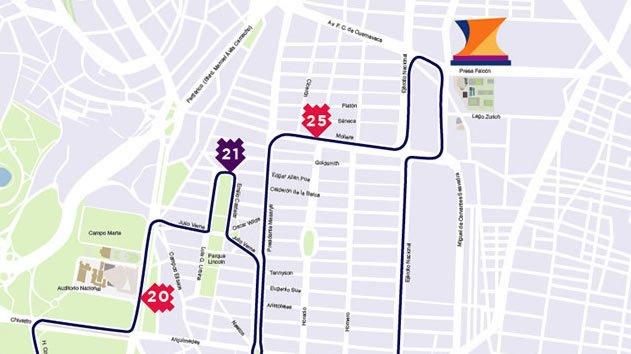 4 ruta maratón de la ciudad de México hasta kilómetro 5