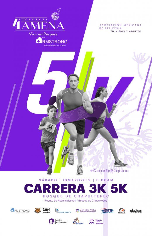 4ª Carrera AMENA por la Epilepsia, corre con causa ayudando a niños con epilepsia