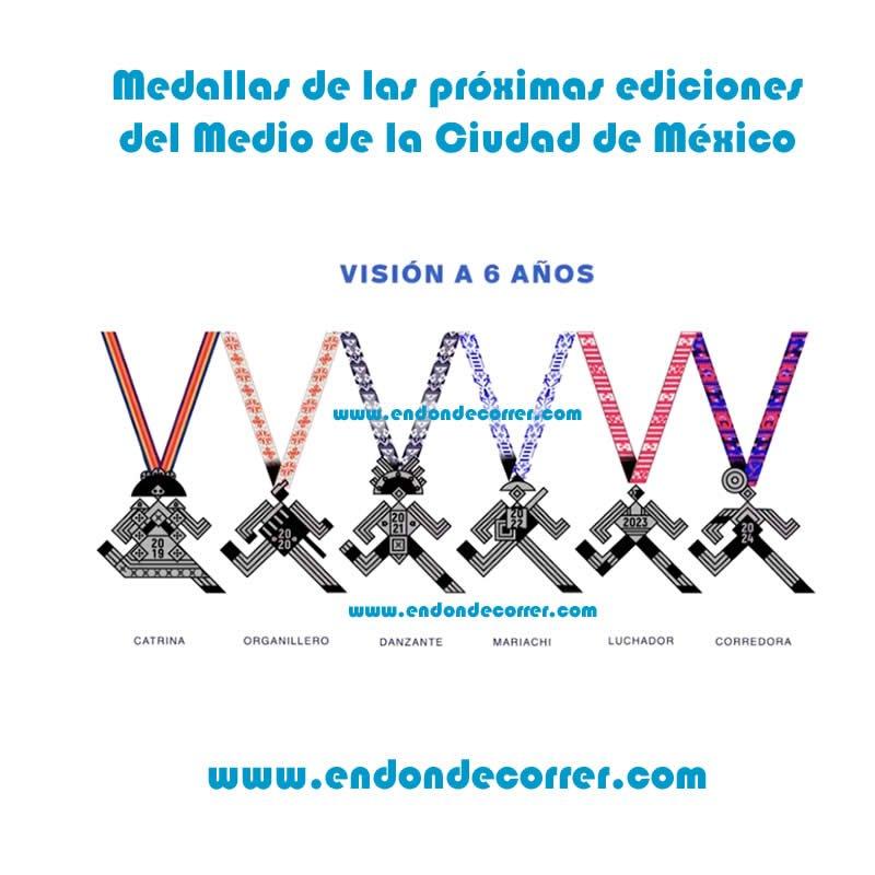 medalla medio maraton ciudad de méxico 2019