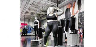 Nike utiliza maniquíes de talla grande en su tienda en Londres