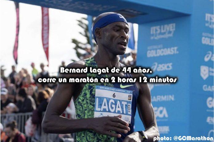 Bernard Lagat de 44 años, corre un maratón en 2 horas 12 minutos