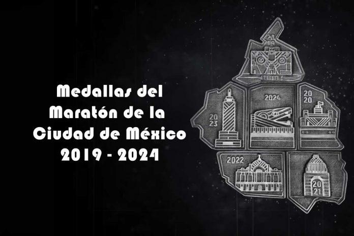 medallas maraton de la ciudad de México 2019-2024