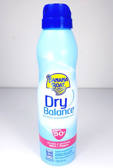 spray dry balance banana boat