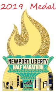 medalla Medio Maratón Newport Liberty
