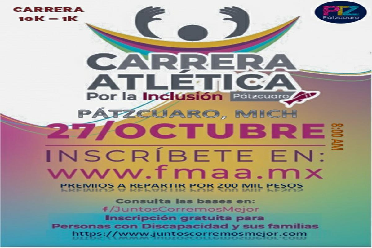 Carrera Atletica por la Inclusión Pátcuaro 2019