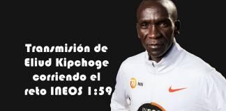 Transmisión de Eliud Kipchoge corriendo el reto INEOS 159