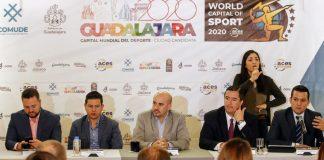 GUADALAJARA DESIGNADA CAPITAL MUNDIAL DEL DEPORTE 2020